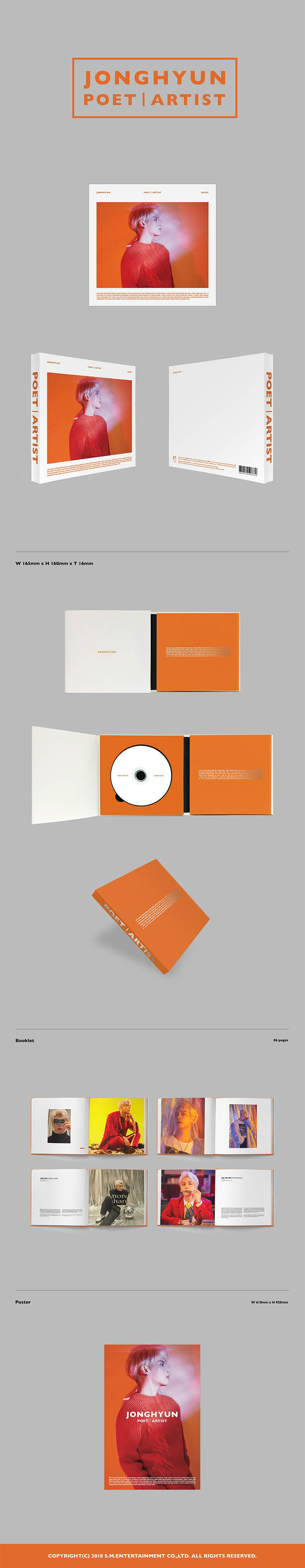 [2nd Pre-order]JONGHYUN - POET l ARTIST