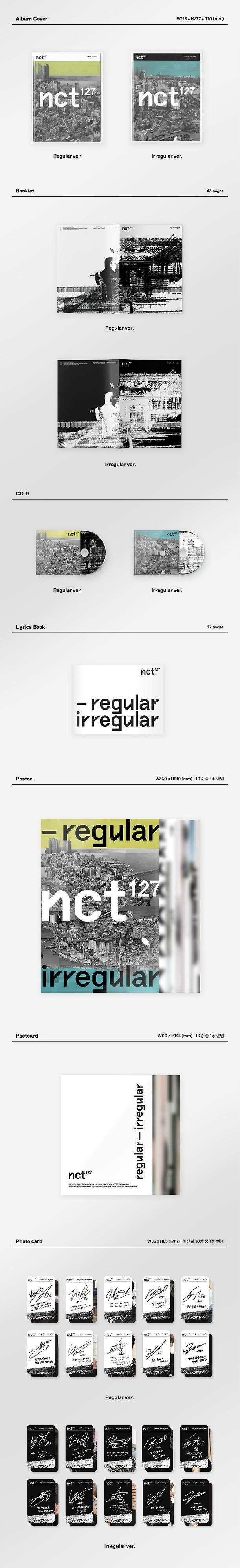 NCT 127 - NCT #127 REGULAR-IRREGULAR' [Random Ver.]