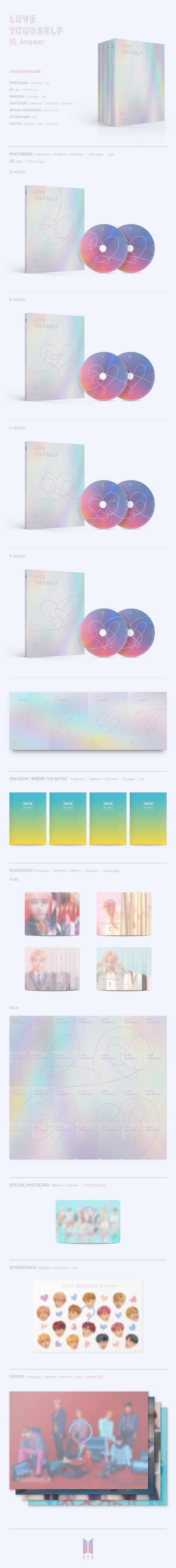 bts loveyourselfanswer contents